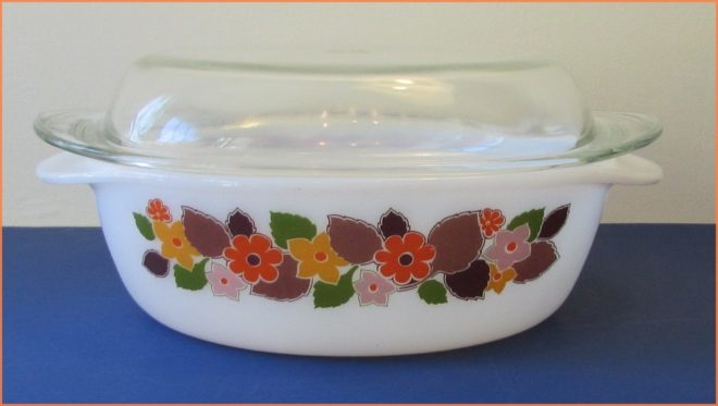 Pyrex Dish with Floral Design