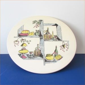 1950's China, Cheese or Cake Stand