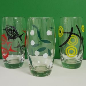 1950s assorted glasses