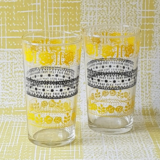 Black and Yellow 1950s glasses