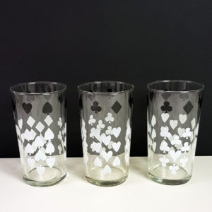 Black and White Glass Tumblers