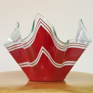 Red handkerchief vase