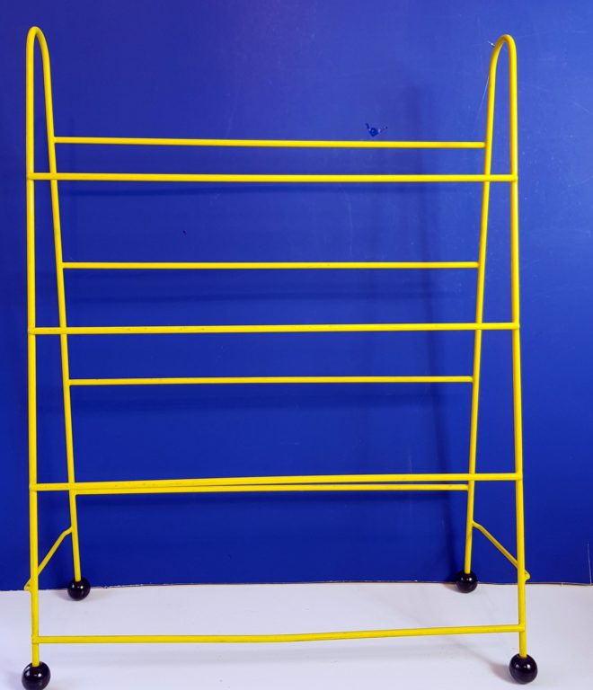 Yellow shoe rack