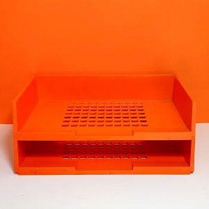 Orange Desk Tray